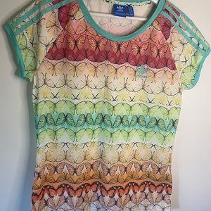 Adidas butterfly women's shirt sleeve top